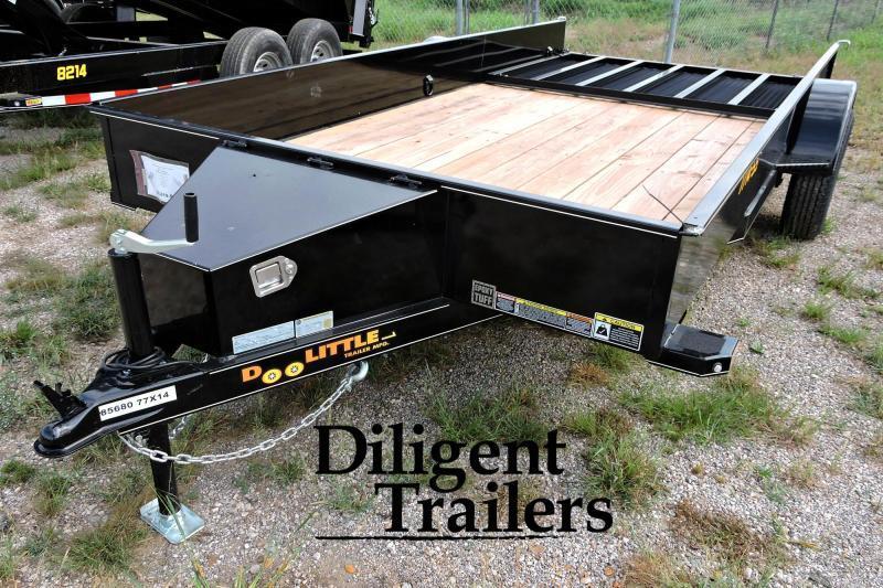 """2020 Doolittle Trailer Mfg 77"""" x14' Steel Sided Single Axle 3.5K Utility Trailer Utility"""