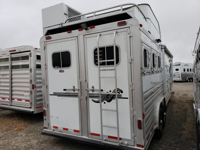 2009 Platinum Coach 14 ft Short Wall 3 Horse Trailer