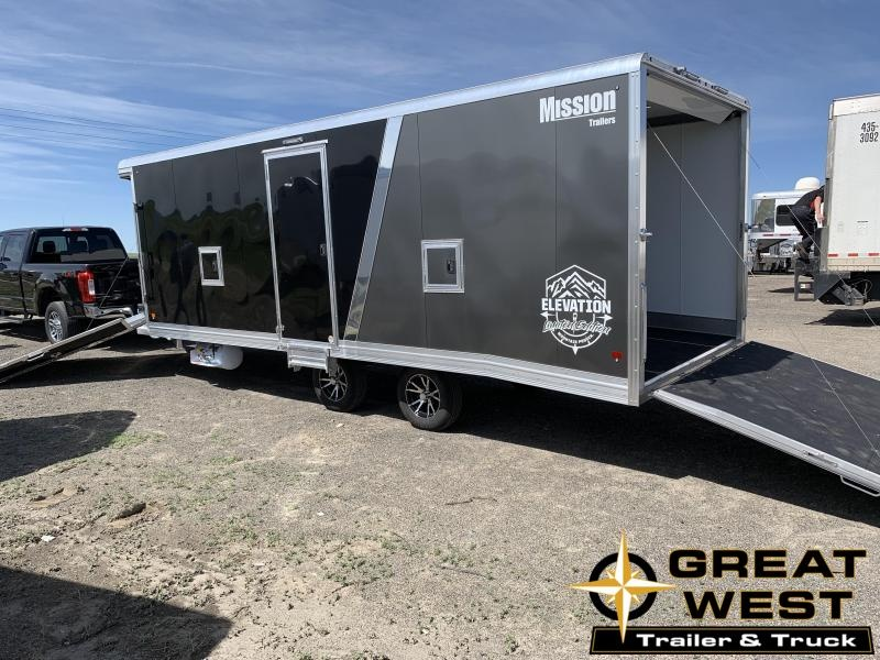 2020 Mission 2020 Mission 24 Elevation Series Limited Edition Snow/Side by side trailer Snowmobile Trailer