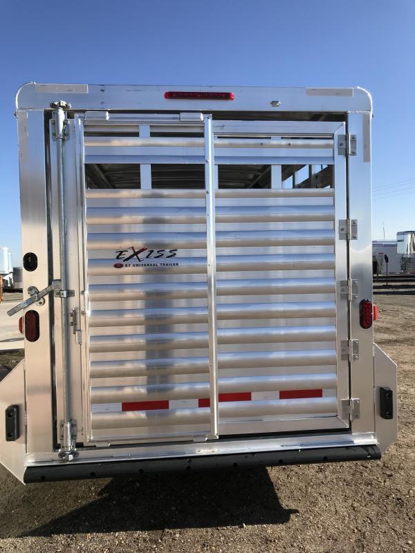 2019 Exiss Trailers 16 Stock Trailer Bumper Pull Livestock Trailer