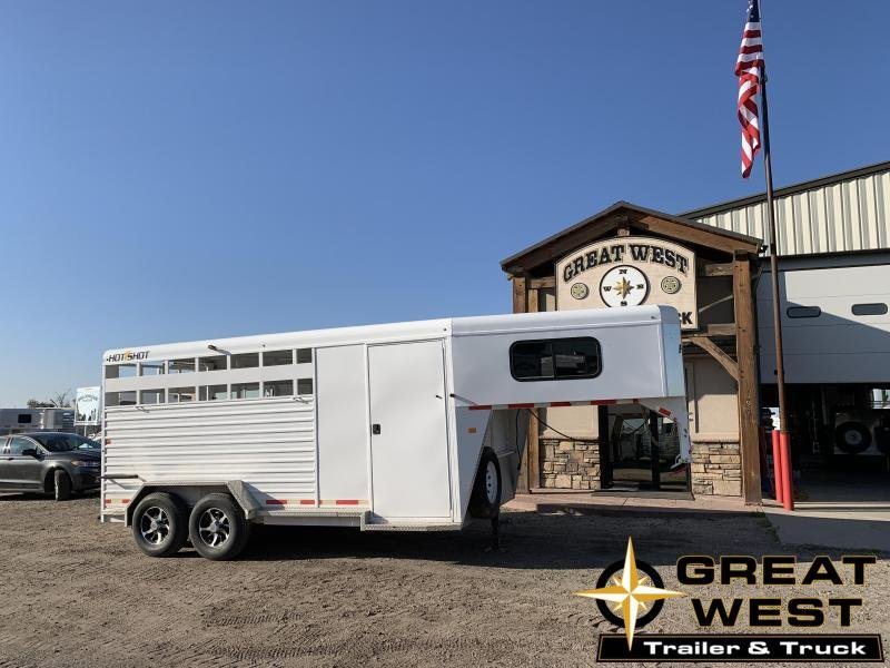 2017 Trails West Manufacturing 16 Hotshot Stock Combo Livestock Trailer
