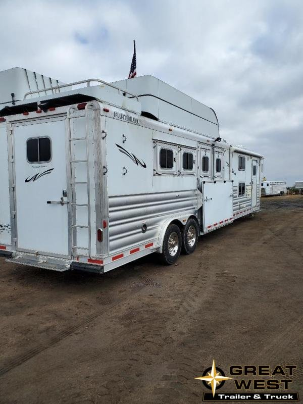 "2016 Platinum Coach 14'9"" Short Wall Reverse load 4 Horse Trailer"