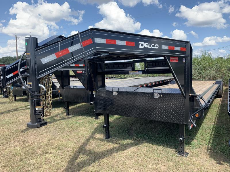 2020 Delco Trailers 102X40 GOOSENECK LOWBOY MAX RAMPS