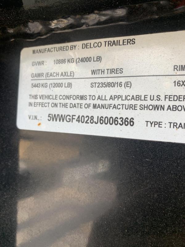 2018 Delco Trailers 40' FLATBED MAX RAMPS GOOSENECK