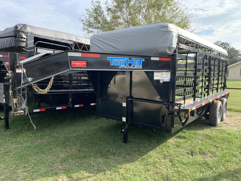 2020 Top Hat Trailers 7X16 WOOD FLOOR GOOSENECK