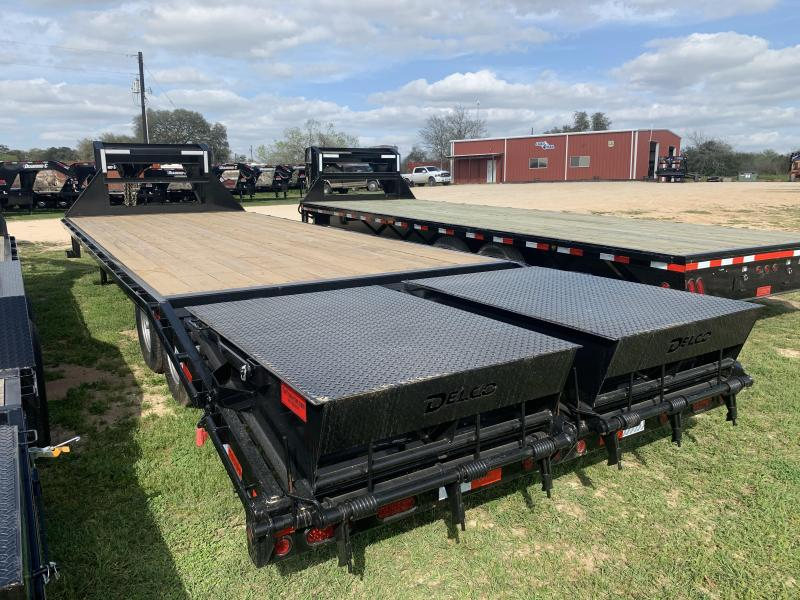2020 Delco Trailers 25' FLATBED MAX RAMPS 14K