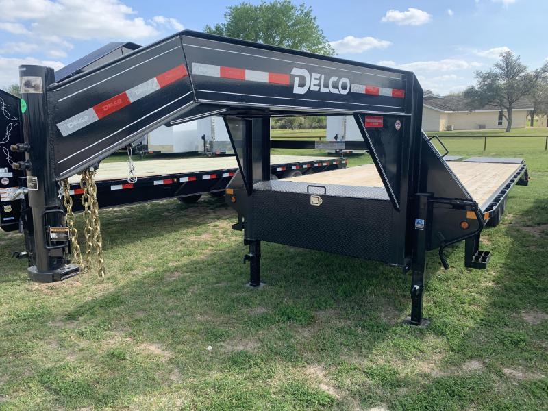 2020 Delco Trailers 25' FLATBED MAX RAMPS 14K