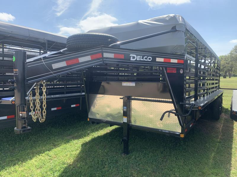 2020 Delco Trailers 24' GOOSENECK CATTLE TRAILER