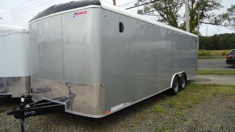 2020 Pace American 8.5X24 JT TE3 RAMP SVNT SILVER Car / Racing Trailer