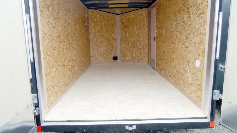 """2020 Pace American 7X14 OBDLX TE2 30VS 6""""X BLACK Enclosed Cargo Trailer"""