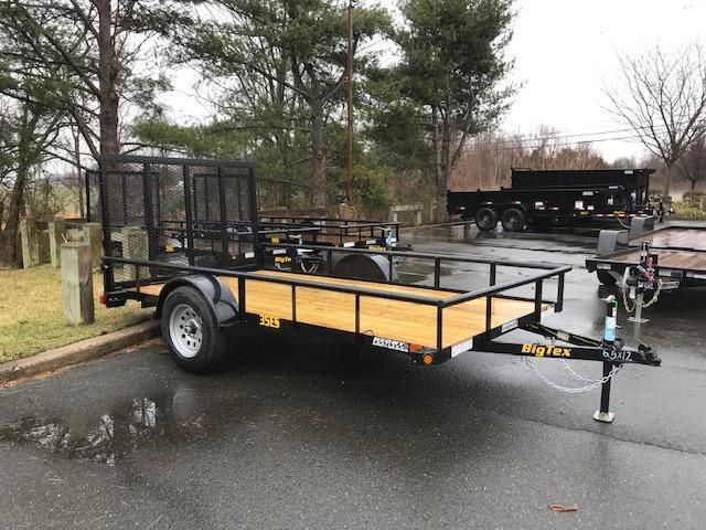 2020 Big Tex Trailers UT 6.5X12 35ES 12BK 4RG BLACK Utility Trailer
