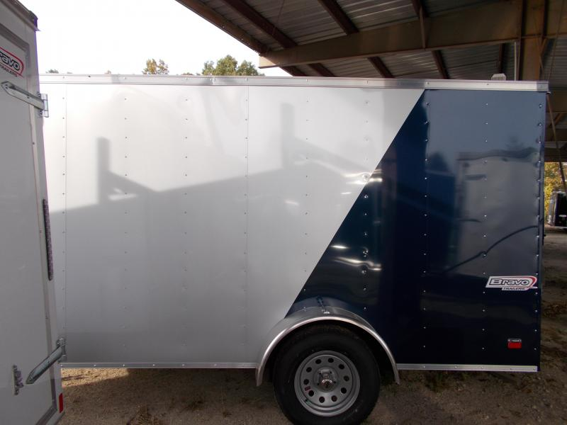 2020 Bravo Trailers 6X12 SC SA 18V RAMP APP SILVER BLUE Enclosed Cargo Trailer