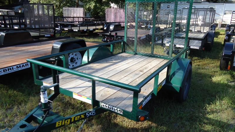 2020 Big Tex Trailers UT 5X8 30SA 08GR4RG GREEN Utility Trailer