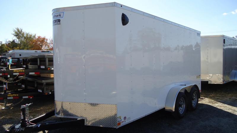 2020 Haulmark 7X14 PP T2 RAMP WHITE Enclosed Cargo Trailer