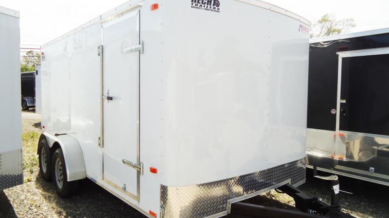 2020 Pace American 7X14 OB TE2 RAMP WHITE Enclosed Cargo Trailer