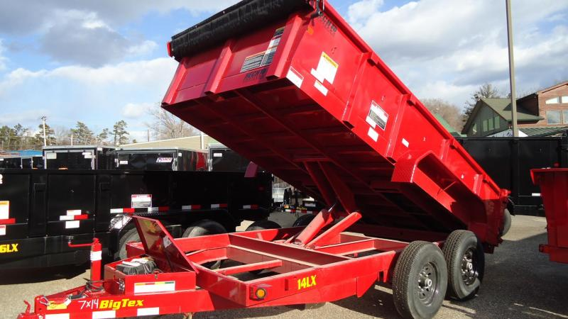 2020 Big Tex Trailers DT 7X14 14LX 14RD RAMPS RED Dump Trailer