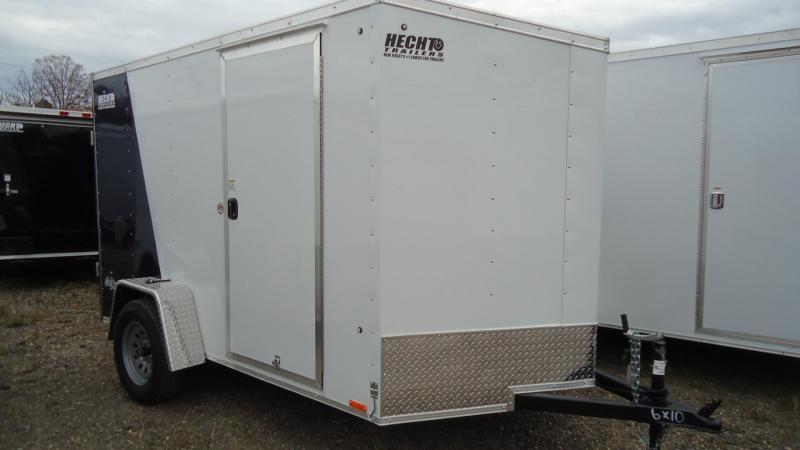 2020 Pace American 6X10 OBDLX SI2 24VS RAMP SVNT WHITE BLUE Enclosed Cargo Trailer