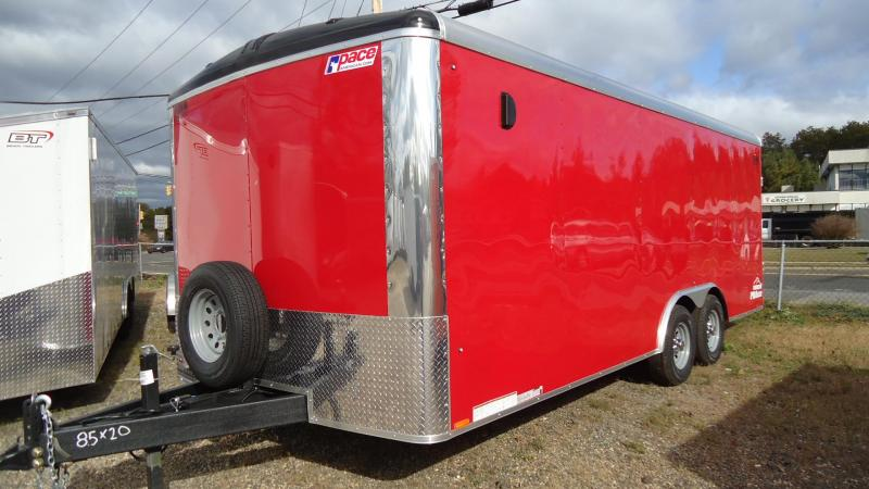 2020 Pace American 8.5X20 CLS TE3 18A RAMP RED Enclosed Cargo Trailer