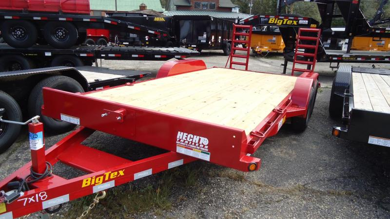 2020 Big Tex Trailers EH 7X18 10ET 18RDKR KNEE RED Equipment Trailer