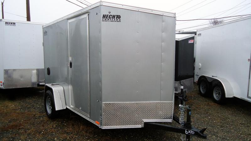 2020 Pace American 6X10 OBDLX SI2 24VS RAMP SVNT SILVER Enclosed Cargo Trailer