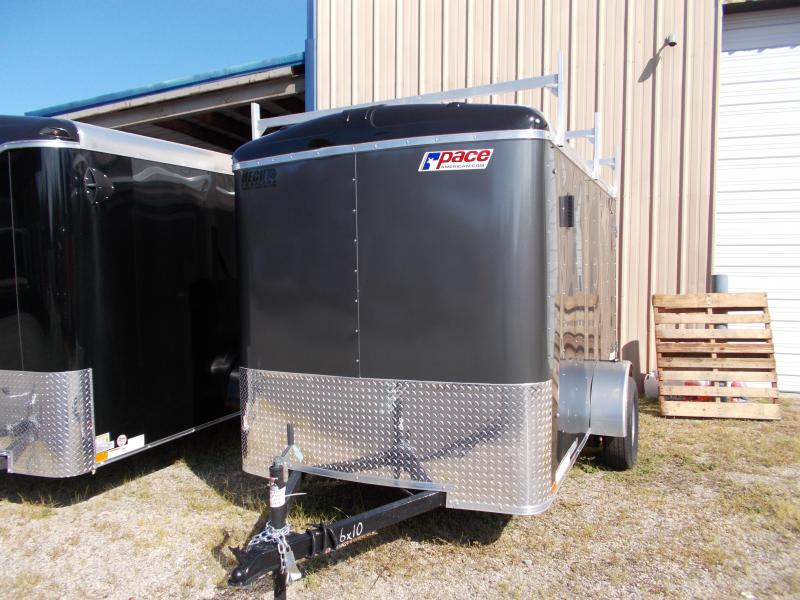 2020 Pace American 6X10 JT SI2 LDR RKS SVNT CHARCOAL Enclosed Cargo Trailer