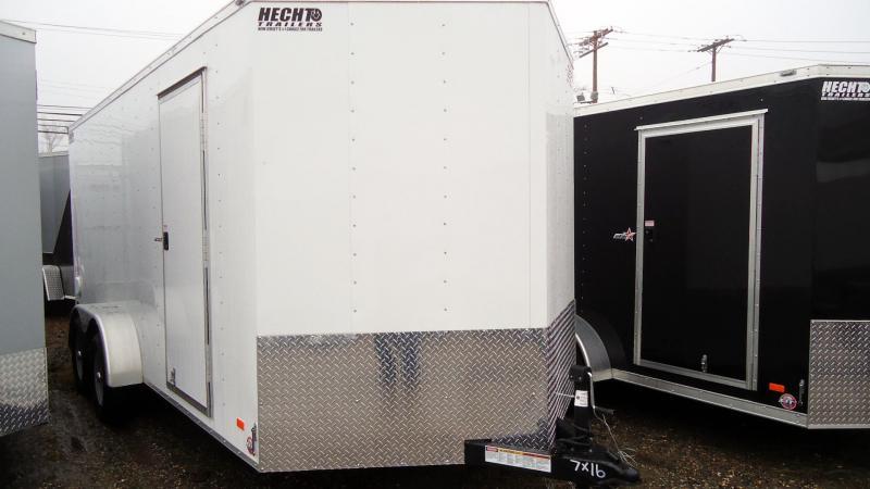 "2020 Bravo Trailers 7X16 SC TA2 30V 6""X MD RAMP APP WHITE Enclosed Cargo Trailer"