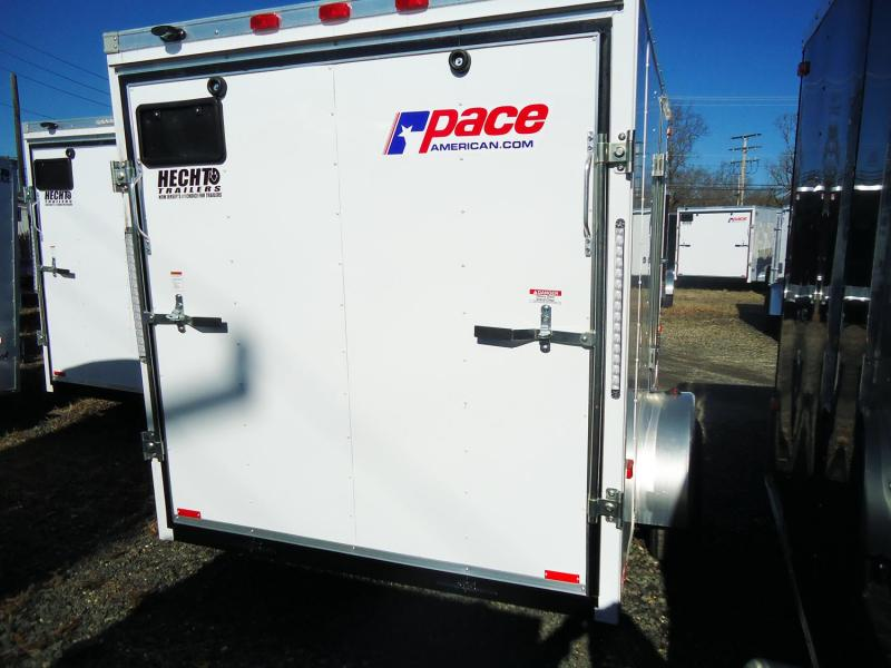 2020 Pace American 6X10 OB SI2 RAMP WHITE Enclosed Cargo Trailer