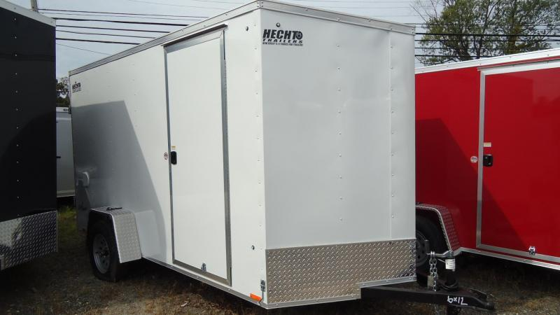 "2021 Pace American 6X12 OBDLX SI2 24VS 6""X SVNT WHITE Enclosed Cargo Trailer"