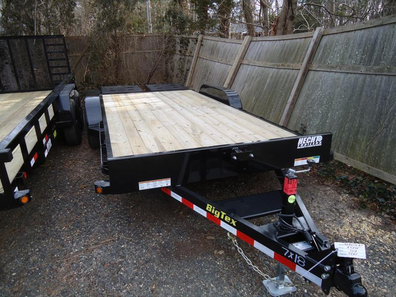 2019 Big Tex Trailers EH-7X18/10ET-18BKMR/MEGA/BLACK Equipment Trailer