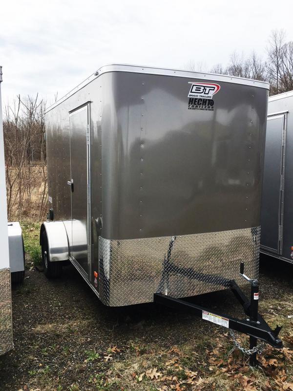 "2020 Bravo Trailers 6X10 SC SA 6""X APP PEWTER Enclosed Cargo Trailer"