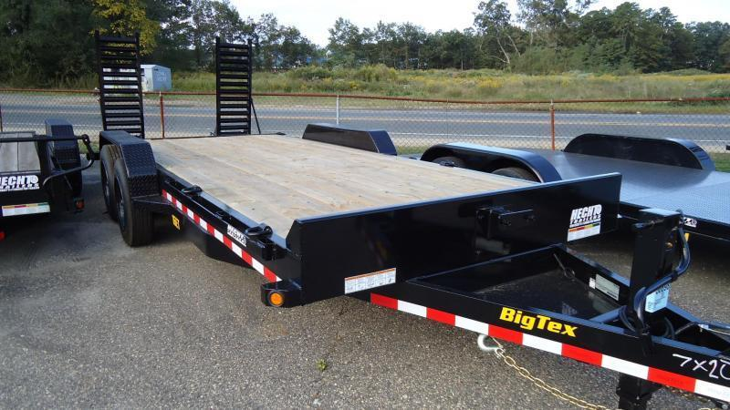 2020 Big Tex Trailers EH 7X22 16ET 193KN KNEE DT BLACK Equipment Trailer
