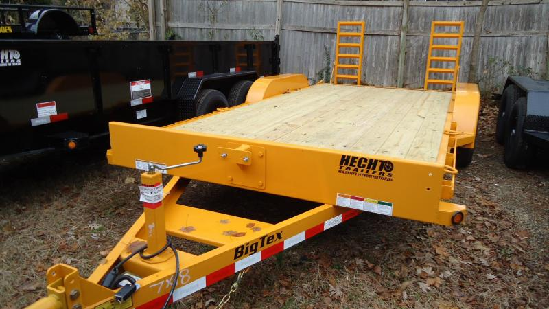 2020 Big Tex Trailers EH 7X18 10ET 18YE KR KNEE YELLOW Equipment Trailer