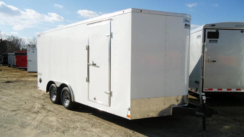 2020 Haulmark 8.5X16 PP T2 RAMP WHITE Enclosed Cargo Trailer