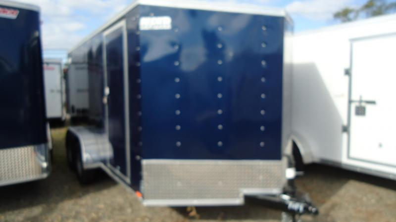2020 Pace American 7X14 OBDLX TE2 30VS SVNT BLUE Enclosed Cargo Trailer