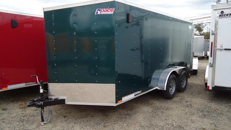 2020 Pace American 7X14 OBDLX TE2 30VS SVNT GREEN Enclosed Cargo Trailer