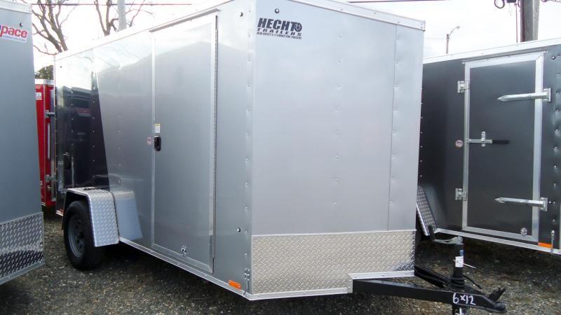 2020 Pace American 6X12 OBDLX SI2 24VS RAMP SILVER & BLUE Enclosed Cargo Trailer