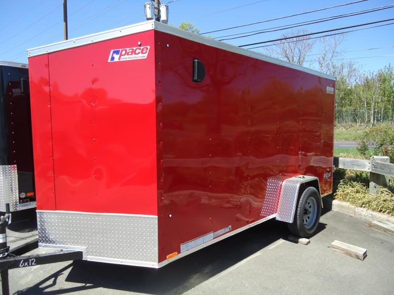 2021 Pace American 6X12 OBDLX SI2 24VS RAMP SVNTS RED Enclosed Cargo Trailer