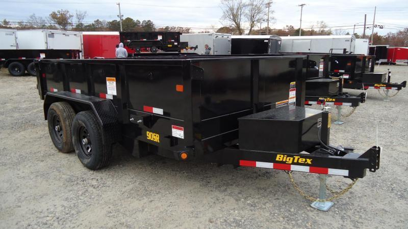 2020 Big Tex Trailers DT 6X12 90SR 12BK7SIR BLACK Dump Trailer