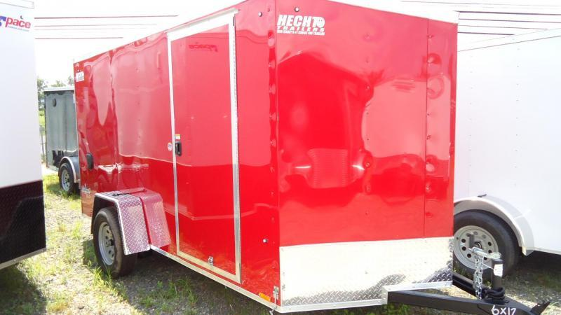 2020 Pace American 6X12 OBDLX 24VS SVNT RED Enclosed Cargo Trailer