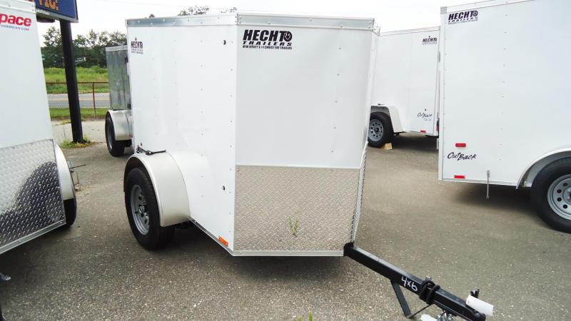2021 Pace American 4X6 JV SI2 18W SUJCK WHITE Enclosed Cargo Trailer