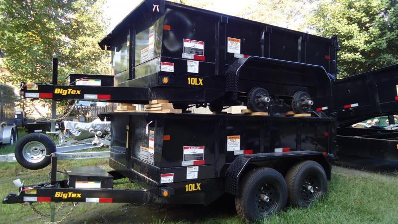 2020 Big Tex Trailers DT 7X10 10LX 10BK7SIR BLACK Dump Trailer