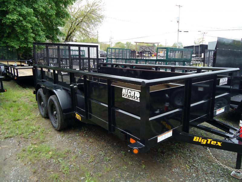 2019 Big Tex Trailers UT 7X16 70TV 16BK 4RG SPARE BLACK Utility Trailer