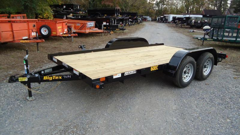2020 Big Tex Trailers CH 7X16 60EC 16BK4SIR BLACK Car / Racing Trailer