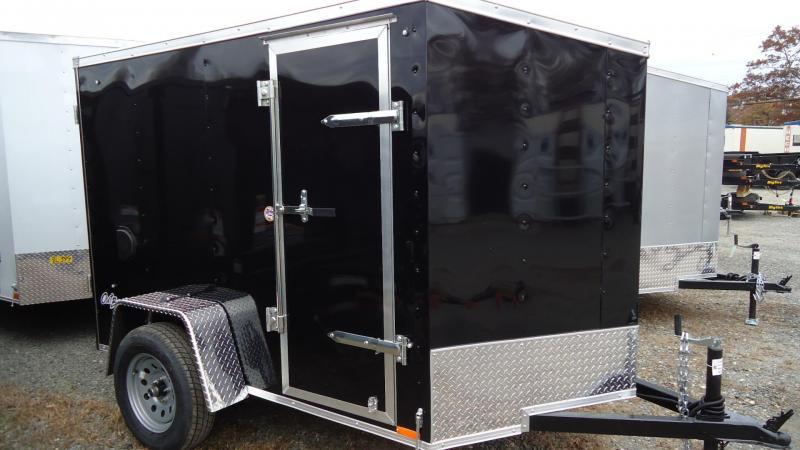 2020 Pace American 5X8 OBDLX SI2 24VS RAMP SD SVNT BLACK Enclosed Cargo Trailer