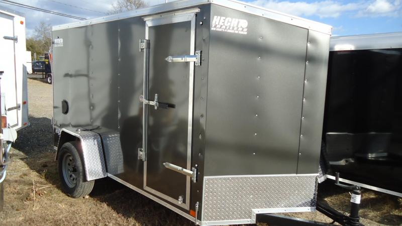 2020 Pace American 5X10 OBDLX SI2 24VS RAMP SD CHARCOAL Enclosed Cargo Trailer