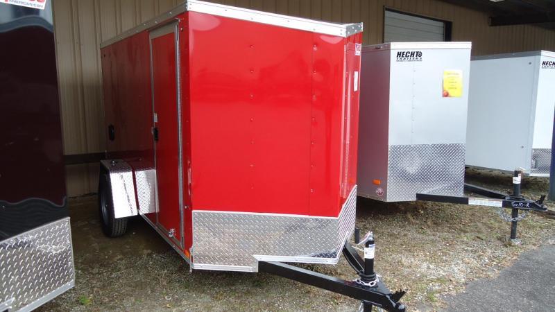2021 Pace American 5X10 OBDLX SI2 24VS RAMP SD RED Enclosed Cargo Trailer