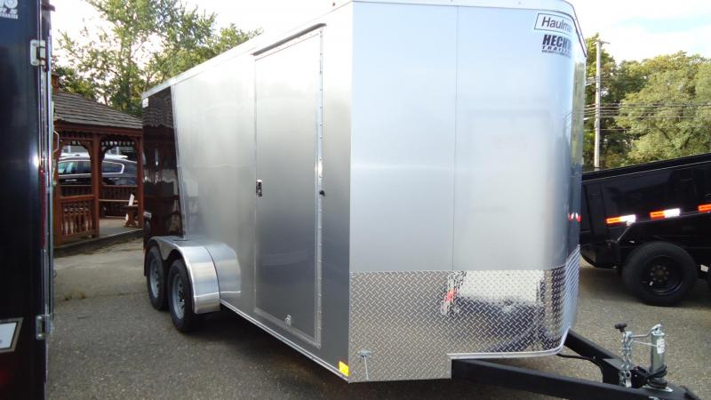 2020 Haulmark 7X16 TSV T2 RAMP SILVER BLACK Enclosed Cargo Trailer