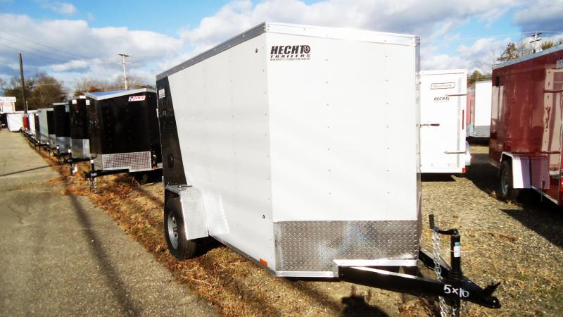 2020 Pace American 5X10 OBDLX SI2 24VS SVNT WHITE & GREEN Enclosed Cargo Trailer