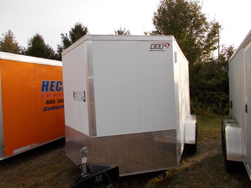 2020 Bravo Trailers 7X12 ST TA2 30V RAMP DRNG APP WHITE Enclosed Cargo Trailer