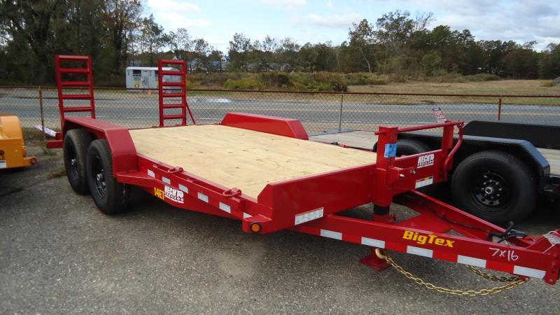 2020 Big Tex Trailers EH 7X16 14ET 16RDKR KNEE DT RED Equipment Trailer